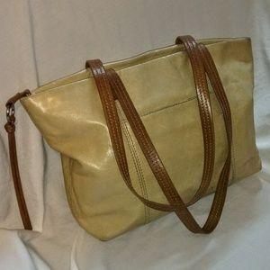 HOBO The Original Beige Leather Shoulder Bag